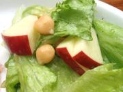 紅玉りんごと有機レタスのフレンチサラダ
