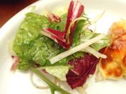 パリパリ有機大根と有機水菜のりんごドレッシングマリネ