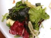 海藻と有機レタスの中華ドレッシング