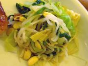 豆もやしと有機ニラの塩ナムル