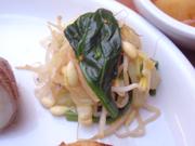 豆もやしと有機青菜と有機キャベツのナムル