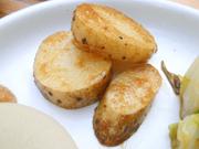 有機長芋のステーキ ジンジャーソース添え