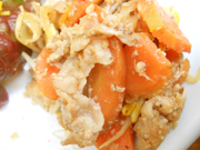 豚肉と有機野菜の辛味噌炒め