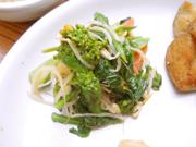 有機菜の花と有機かぶのナムル