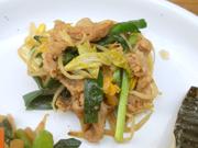 豚肉と有機白菜のピリ辛炒め