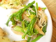 有機牛蒡とこんにゃくと有機菜の花のナムル