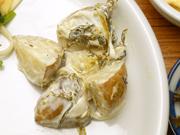 有機新じゃが芋と有機新玉ネギと有機高菜のガーリックマヨネーズ和え