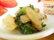 有機牛蒡と有機青菜のごま酢和え
