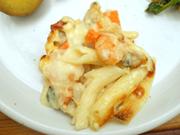 あさりと旬の有機野菜のチーズグラタン