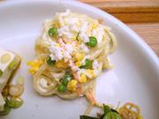 ゆで卵とスパゲティーのマヨネーズ和え
