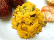 有機かぼちゃと小豆のマッシュサラダ