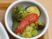 有機揚げズッキーニと有機トマトのマリネ