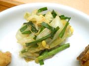 有機ニラと豆もやしのピリ辛ナムル