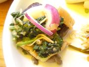 有機青菜と有機揚げ茄子のおろし和え