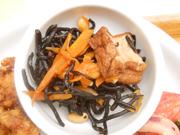 厚揚げとひじきと大豆の煮物