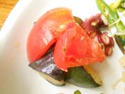 タコと有機旬野菜のガーリックハーブ焼き