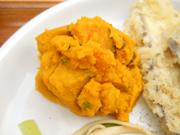 有機かぼちゃとレーズンの豆乳マッシュ
