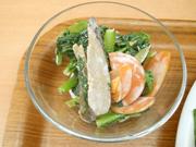 有機牛蒡と有機青菜の辛子マヨネーズ和え