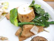 有機青菜と有機長芋と車麩のナムル