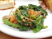 有機牛蒡と有機青菜の胡麻和え