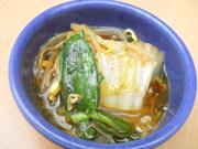 有機白菜と有機ニラのピリ辛 チゲ鍋