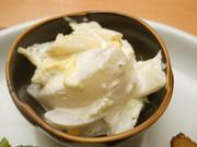 有機かぶと有機白菜の辛子マヨネーズ和え