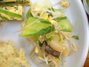 有機チンゲン菜と豆もやしの中華ナムル