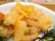 有機小カブと有機大根の柚子味噌和え