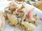 有機ジャガ芋ときのこのバルサミコマリネ