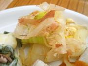 さらし有機玉ネギと有機白菜のおかか和え