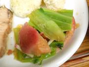 有機赤カブと有機青菜の梅おひたし