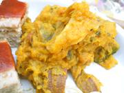 有機安納芋と有機かぼちゃのピーナッツ和え