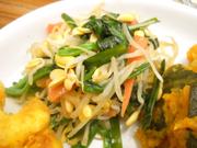 有機青菜と豆もやしの中華ナムル