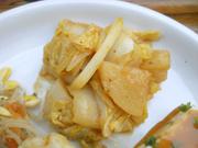 有機大根と有機白菜の梅味噌和え