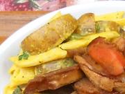 有機菜の花と有機ジャガ芋のカレーマヨネーズ和え