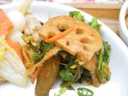 有機菜の花と有機蓮根の豆みそナムル