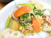 有機チンゲン菜と春雨の中華和え