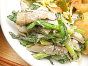 有機牛蒡と有機小松菜の黒ごま和え