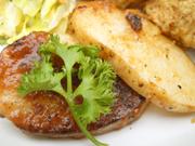 有機長芋と有機蓮根のステーキ 黒コショーソース