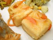 揚げ出し豆腐の有機野菜あんかけ