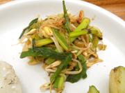有機青菜と有機高菜と豆もやしのナムル