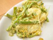 有機ジャガ芋と有機菜の花のカレーマヨネーズ和え