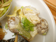 有機春キャベツと有機ジャガ芋のマヨネーズ和え