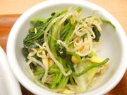 豆もやしと有機ほうれん草の中華ナムル