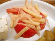 有機新玉ネギと有機トマトとマカロニのマリネ