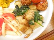 姫ホタテと有機ジャガ芋の生姜バター焼き