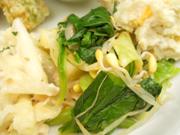 豆もやしと有機青菜のピリ辛ナムル