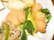 車麩と有機青菜の辛子醤油和え