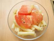 有機トマトと有機新玉ネギのハーブマリネ