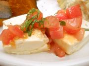 島田さん豆腐のカプレーゼ風 フレッシュトマトソース